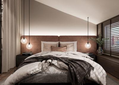 Arte ullakkoasunnot - Kaisaniemenkatu 3 A41 makuuhuone 3D