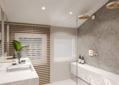 Arte ullakkoasunnot - Kaisaniemenkatu 3 A42 kylpyhuone 3D