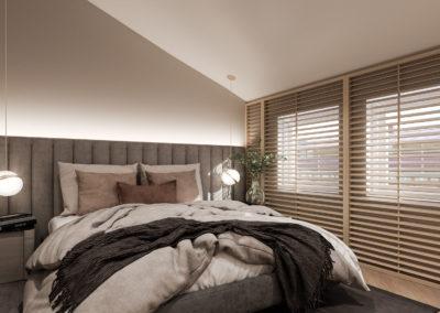 Arte ullakkoasunnot - Kaisaniemenkatu 3 A42 makuuhuone 3D