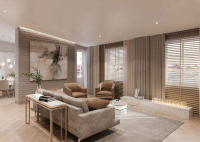 Arte ullakkoasunnot - Kaisaniemenkatu 3 asunto 4 olohuone 3D