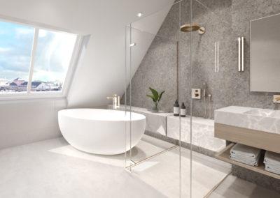 Arte ullakkoasunnot Kaisaniemenkatu 3 asunto 4 spa 3D-kuva